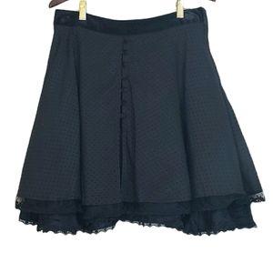 Lipservice Black Velour Crushed Velve Tulle Skirt